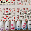 BlueZoo 24 Sheets/pack 3D Flower Nail Stickers On Nail Art Decor Relief Painting Beauty Nail Decals Stickers Nail Makeup Tips