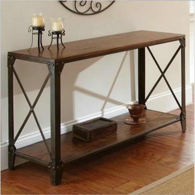 Paese americano in ferro battuto consolle in legno scrivania ...