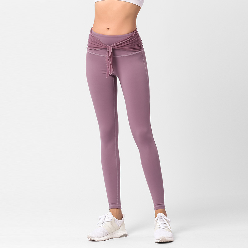 Blockbuster Yoga Pants Women Fitness Fast Dry Hip Pants Pure Nylon High waist Running Nine minute Pants in Yoga Pants from Sports Entertainment