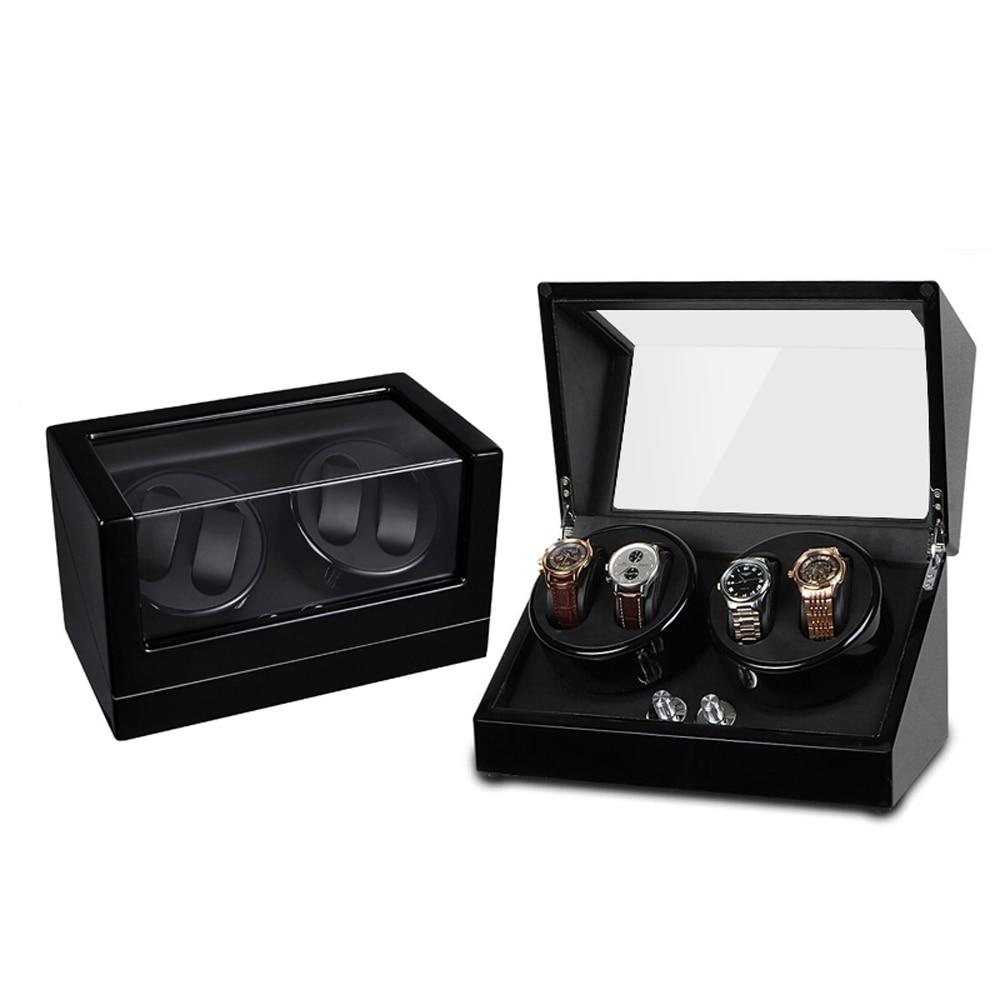 Enrouleur de montre, Boîte en bois à rotation automatique 4 + 0 en - Accessoires montres - Photo 3