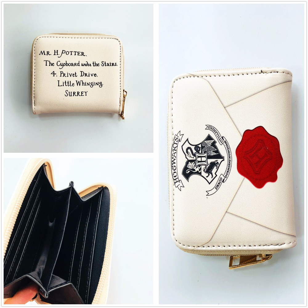 Movie Harry Potter Letter Wallet Women Wallets Designer Brand Short Purse Round Zipper Purse W969Y fvip high quality short wallet harry potter game of thrones suicide squad wonder women tokyo ghoul men s wallets women purse