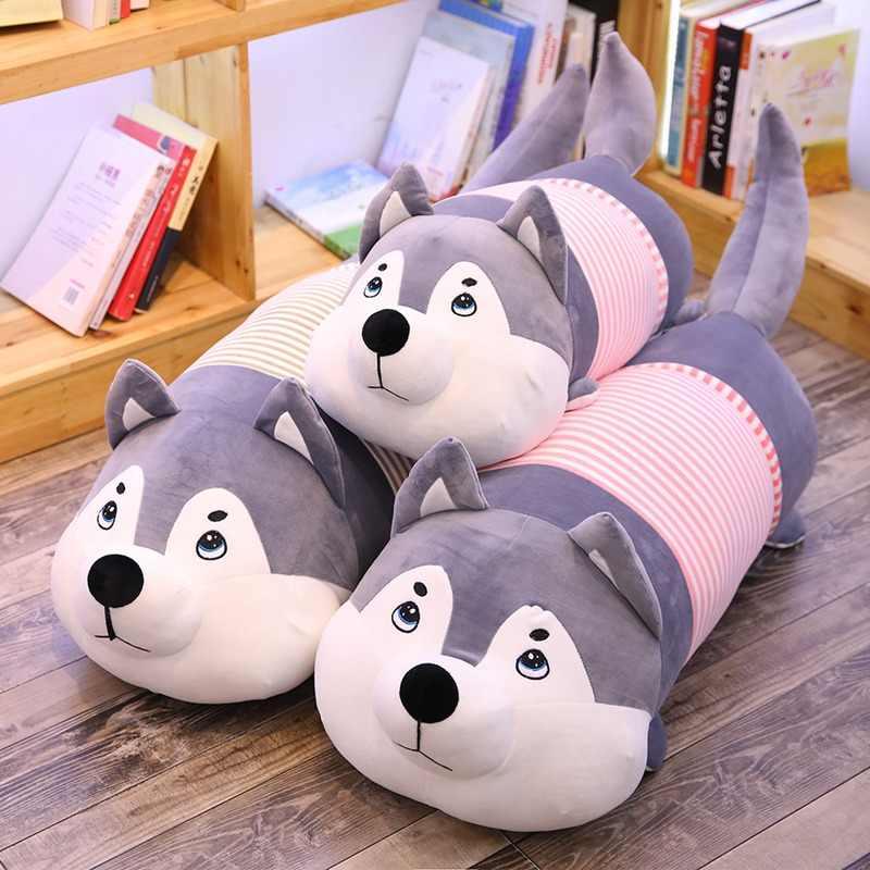 Kawaii одежда Хаски плюшевые игрушки мягкие Мультяшные животные собака мягкие куклы диван подушка на стул подушка ребенок девушка рождественский подарок