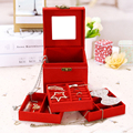 Jewelry Packaging & Display Box 3 layers Jewelry Box Storage Case Necklace Ring Jewellery Display Container Organizer