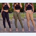 3 color casual ripped jeans for women 2016 new autumn winter skinny  jeans woman bandage knee hole S-XL plus size pants SJ201