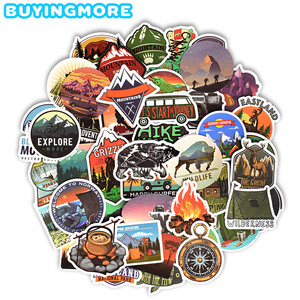 50 PCS Camping Landscape Stickers Outdoor Adventure Climbing Travel Waterproof Sticker to DIY Suitcase Laptop Bicycle Helmet Car(China)