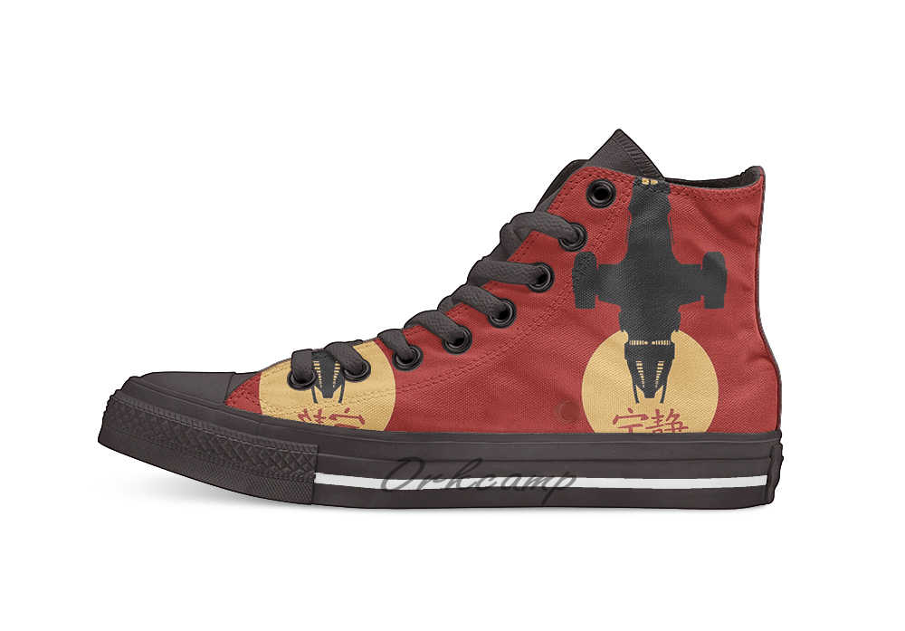 Firefly Serenity Silhouette Joss Whedon High Top Canvas Shoes Flat Casual Custom Unisex Sneaker Drop Shipping