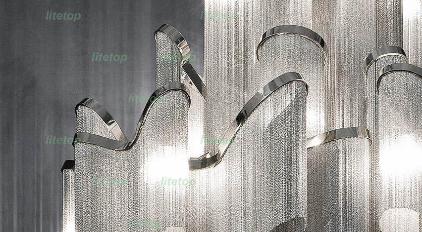 Stream ceiling light aluminum chain modern novelty lighting fixture stream ceiling light aluminum chain modern novelty lighting fixture ceiling lamp iridescent light project in ceiling lights from lights lighting on aloadofball Image collections
