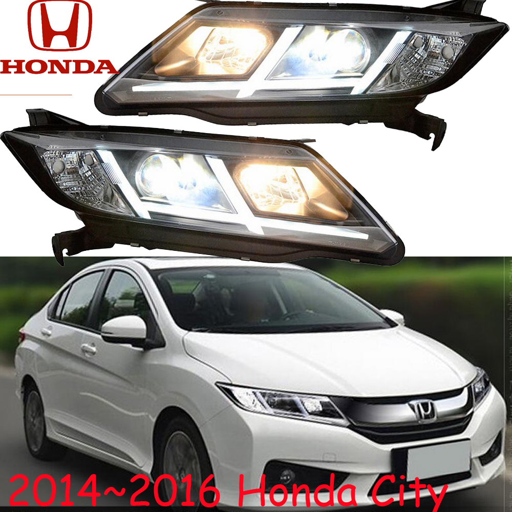 City headlight,2014~2016(Fit for LHD,RHD),Free ship! City daytime light,2ps/se+2pcs Ballast,crosstour,Vezel,City mitsubish grandis headlight 2008 fit for lhd