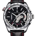 PAGANI DESIGN Reloj Hombre Dive 30m Brand Fashion Leisure Leather Sport Utility Stainless Steel Quartz Watch Relogio Masculino