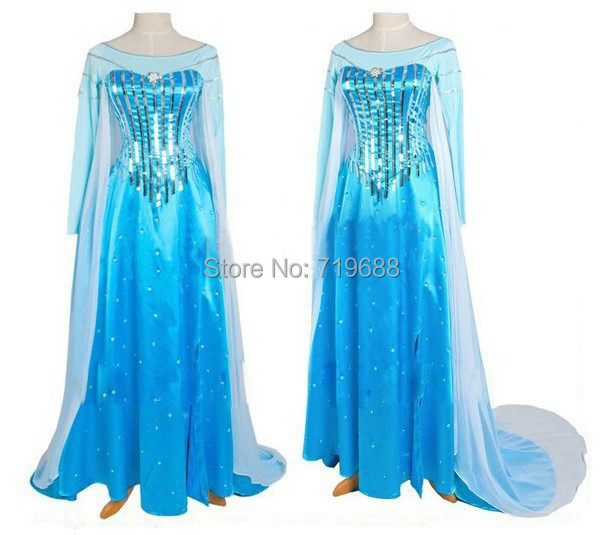 elsa costume adult snow queen costume elsa cosplay halloween costumes for women fantasy fancy dress custom free shipping
