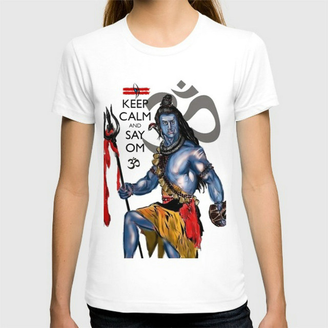 Keep Calm and OM Lord Shiva T-shirts for Women
