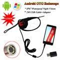 Frete grátis! 5.5mm 4LED Endoscópio Câmera de Inspeção de Vídeo À Prova D' Água Android OTG 2 M Cabo USB
