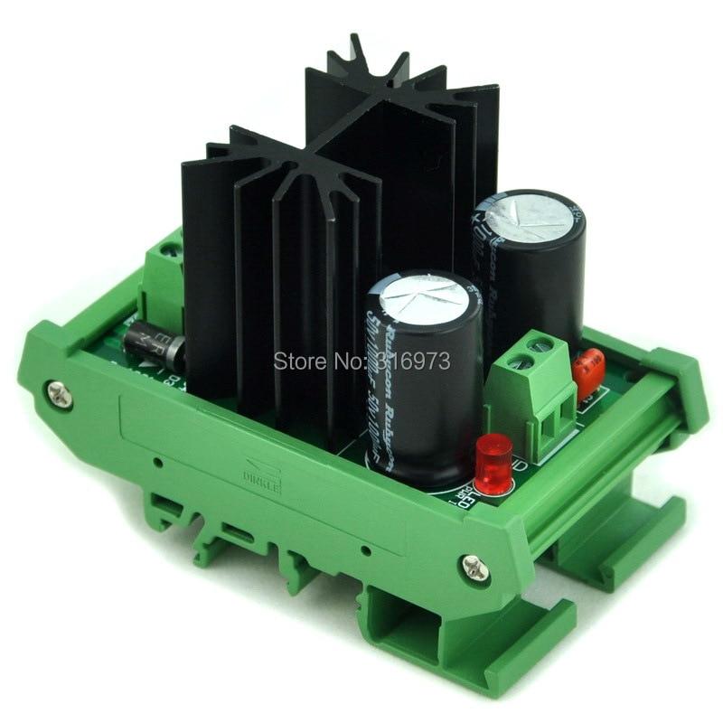 DIN Rail Mount Negative 18V DC Voltage Regulator Module, High Quality.