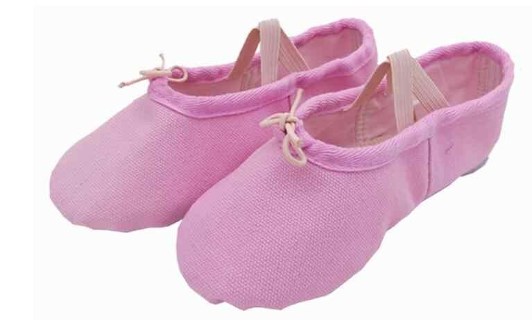New10 Color lona suave zapatos de Ballet zapatos de baile zapatillas de Yoga niños bebés niños niñas zapatillas de mujer