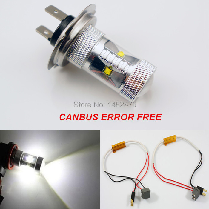 pair error free canbus high power xenon white h7 for cree. Black Bedroom Furniture Sets. Home Design Ideas