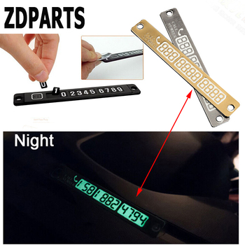 ZDPARTS Car Magnetic Luminous Temporary Parking Card Stickers For Bmw E46 E39 E60 E90 F30 F10 E30 X5 E53 F20 E70 Mazda 3 6 CX-5 image
