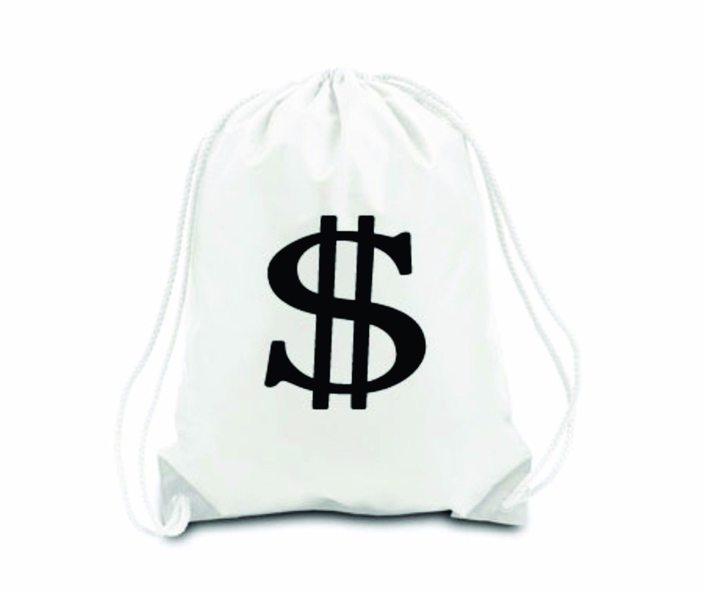 Aliexpress.com : Buy Money Bag Drawstring Backpack Cinch Sack ...