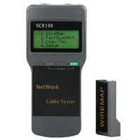 SC8108 testeur de réseau LCD Portable et testeur de câble de téléphone LAN et compteur avec écran LCD RJ45 livraison gratuite