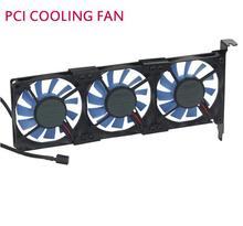 Успокоить общие видеокарты вентилятор охлаждения ультра-тонкий pci ebm papst 8015 3 вентилятора PCI Прохладный охлаждения комплект бесплатная доставка