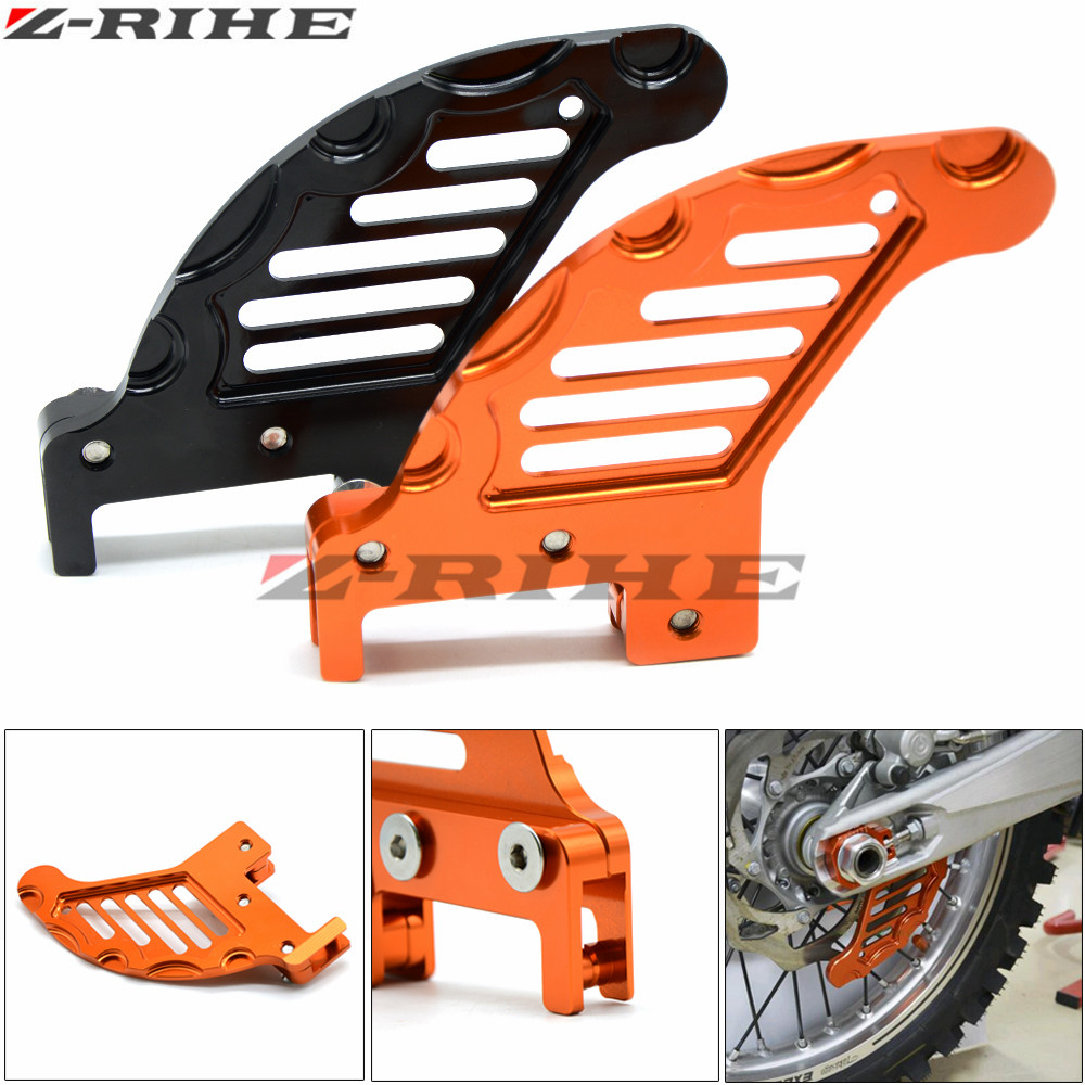 CNC Aluminum Motorcycle Billet Rear Brake Disc Guard For KTM 125 250 350 450 525 530 SX SX-F EXC MXC XCW 2003-2017 billet cnc rear brake disc guard w caliper bracket for ktm 125 450 sx sx f smr xc xc f 2013 2014 2015 2016