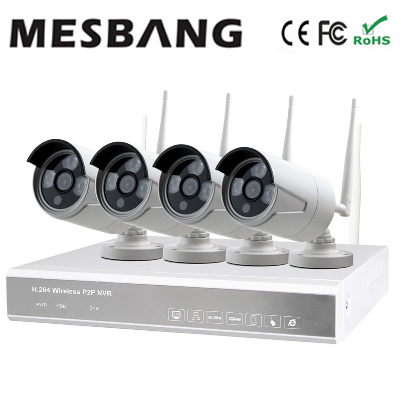 2017 Mesbang 720P 4ch  ip camera wifi outdoor NVR  kits set with 1TB HDD  by Fedex DHL free shipping 2017 mesbang 960p 4ch camera security wireless set wifi nvr kits good for small shop and office using delivery by dhl fedex