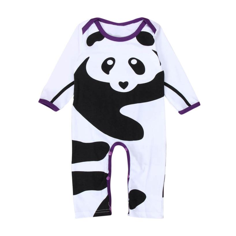 Newborn Infant Baby Boys Girls Panda Print Romper Jumpsuit Outfits Clothes Sep 7