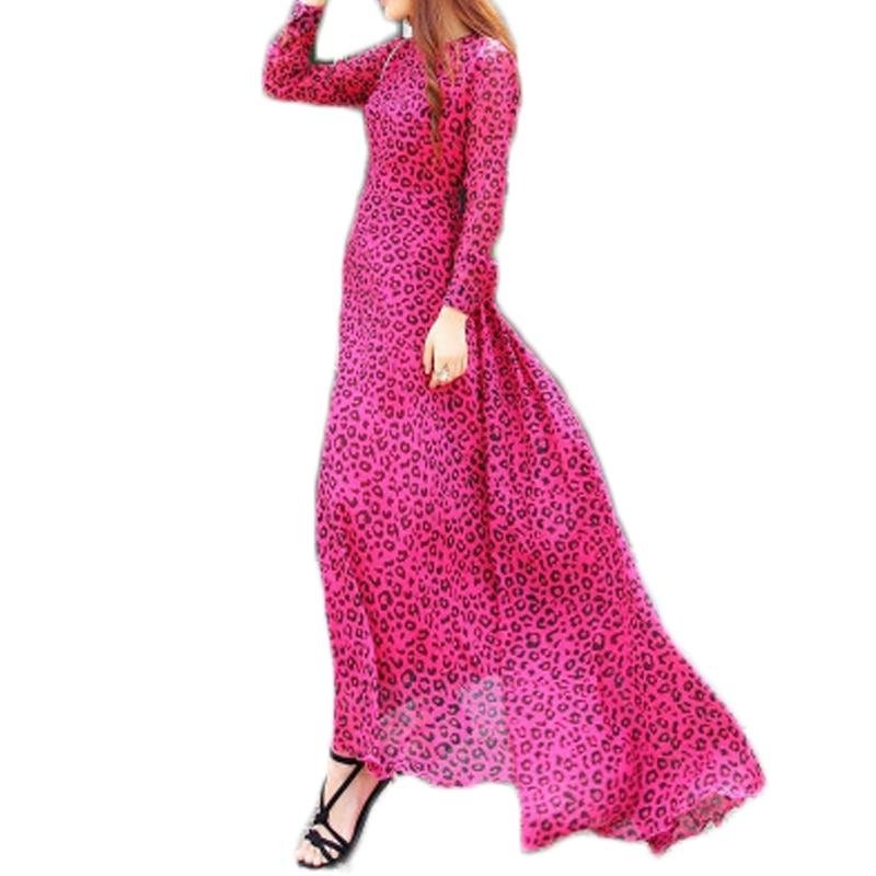 Estampado de Leopardo de la vendimia Vestido de Fiesta Con La Correa ...