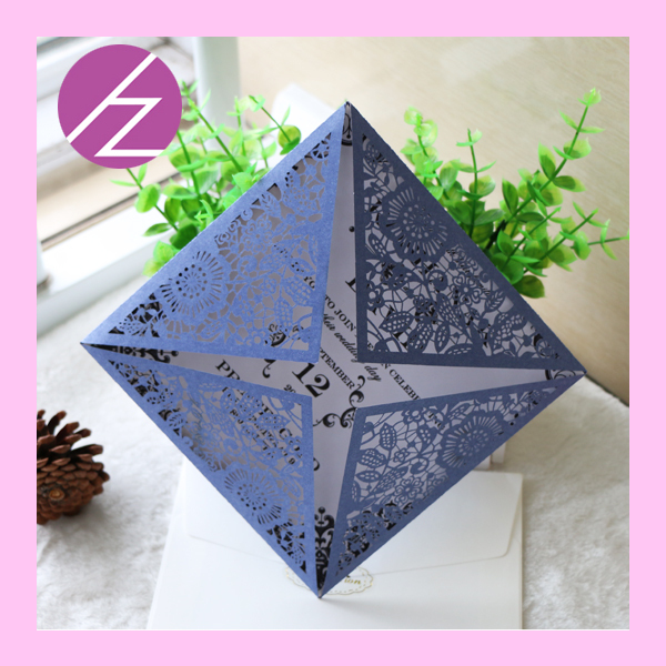 Fast Shipping !! Elegant America Wedding Invitation Cards Handmade  Invitation Card QJ16(China)