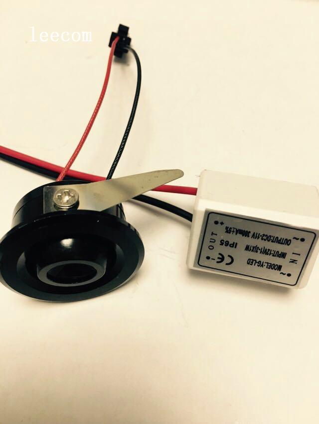 1 Teile/los Schwarz Mini Led Spot Licht Schrank Lampe 1 Watt High Power Led Weiß Warmweiß Dc12v Innen Beleuchtung