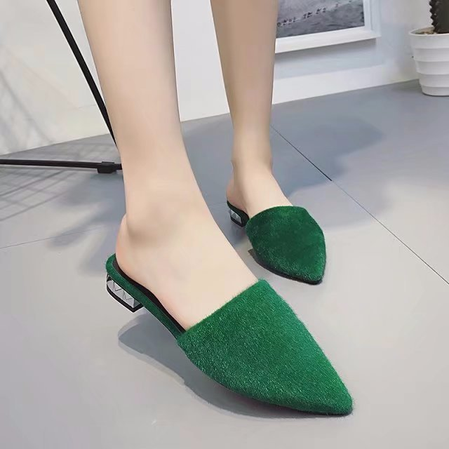 2018 Korean New Fashion Spring Women Flats Shoes Ladies Horse hair pointed Toe Slip-On Flat Women's Shoes  B332 beyarne spring summer women moccasins slip on women flats vintage shoes large size womens shoes flat pointed toe ladies shoes