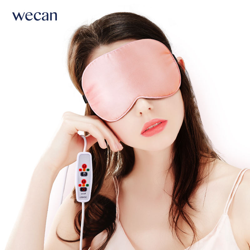 Wecan USB Heating Steam eye mask Eyeshade Hot Compress Cover Shade Eye Patch Travel Eye Mask Women Men Portable Blindfold цена