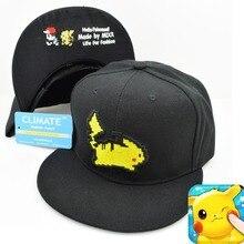 Lovely Pokemon Pikachu Flat Snapback Caps