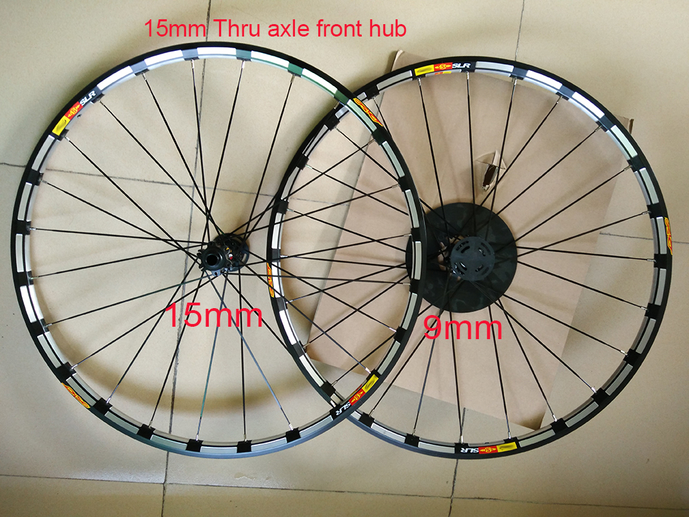 New arrival ultralight 15mm 9mm Thru axle front hub CNC M- Cross slr disc XRD edition 26 27.5 29 inch MTB bicycle wheelset цены