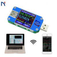 Для App USB 2,0 Type-C ЖК-Вольтметр Амперметр измеритель тока напряжения, для батареи измерение заряда Bluetooth связь UM25 UM25C