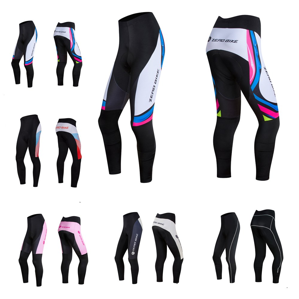 ZEROBIKE Hot Sale Women 3D Gel Padded Cycling Pants Bicycle Outdoor Sports Quick dry Breathable MTB Bike Clothing Ciclismo S-XL