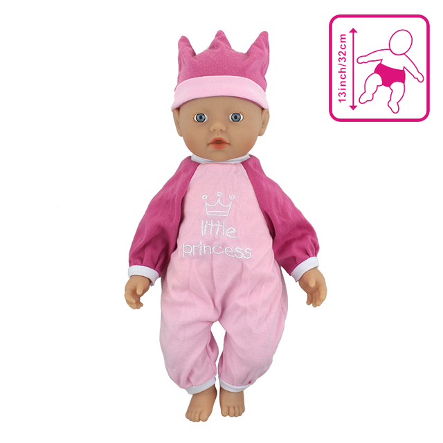 Outfit Wear for 32cm My Zapf little Baby Born Doll 13 Inch Dolls Clothes