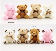 1 шт. случайный дизайн, 10 см Подарочная игрушка-медведь, плюшевая мягкая искусственная кукла, с брелоком