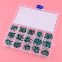 beler 150pcs/Kit Green FKM Rubber Airtight O-Ring Circle Gasket Seals Assortment 15 Sizes