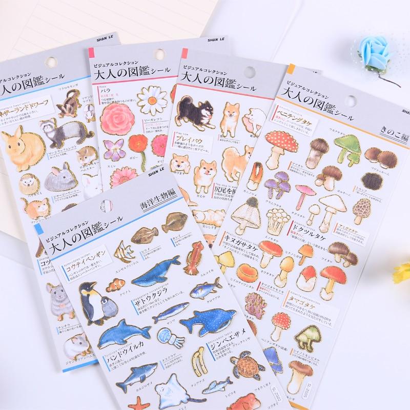 1 Pcs /1lot Kawaii Stationery Stickers Shiba Inu Cat Diary Planner Decorative Mobile Stickers Scrapbooking DIY Craft Stickers