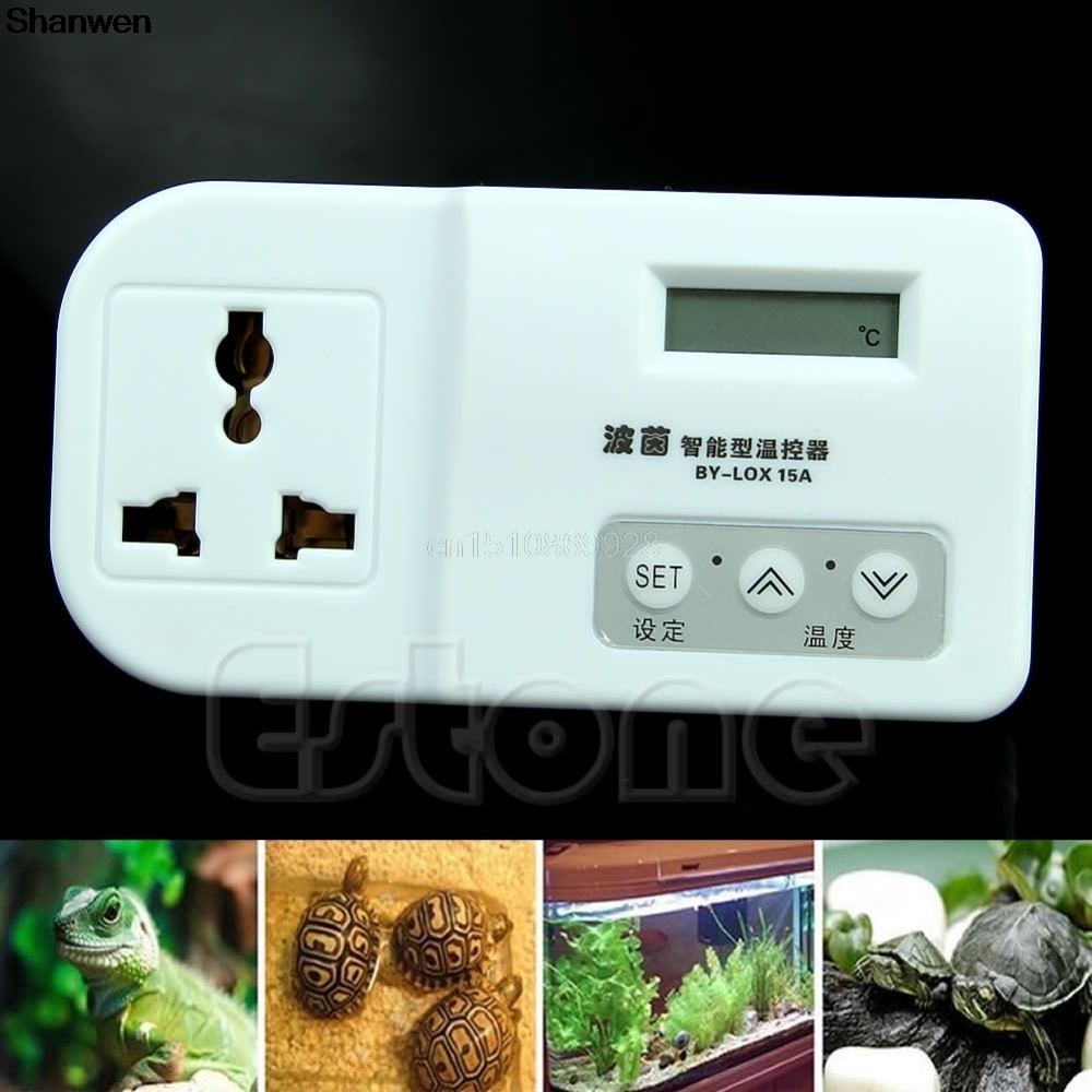 цена Digital Thermostat For Reptile Lizard Snake Heat Mat Lamp Incubator Aquarium