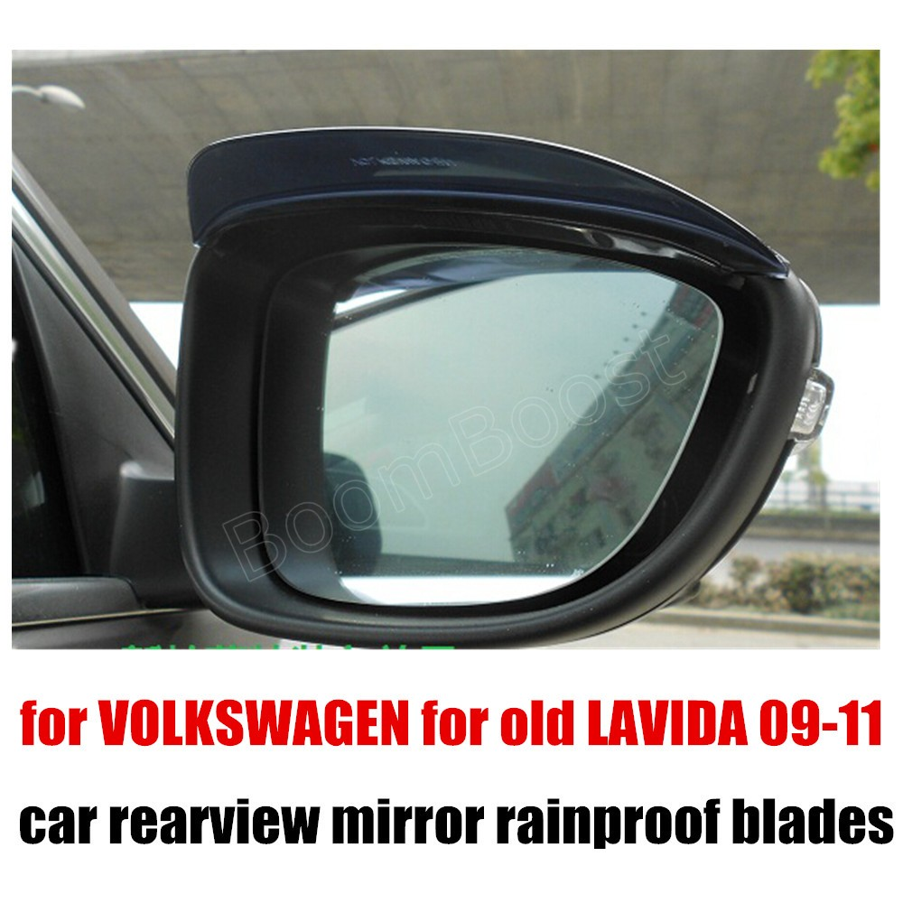 High quality 2 pieces Car rearview mirror rain eyebrow for VOLKSWAGEN for old LAVIDA 09-11 auto accessories