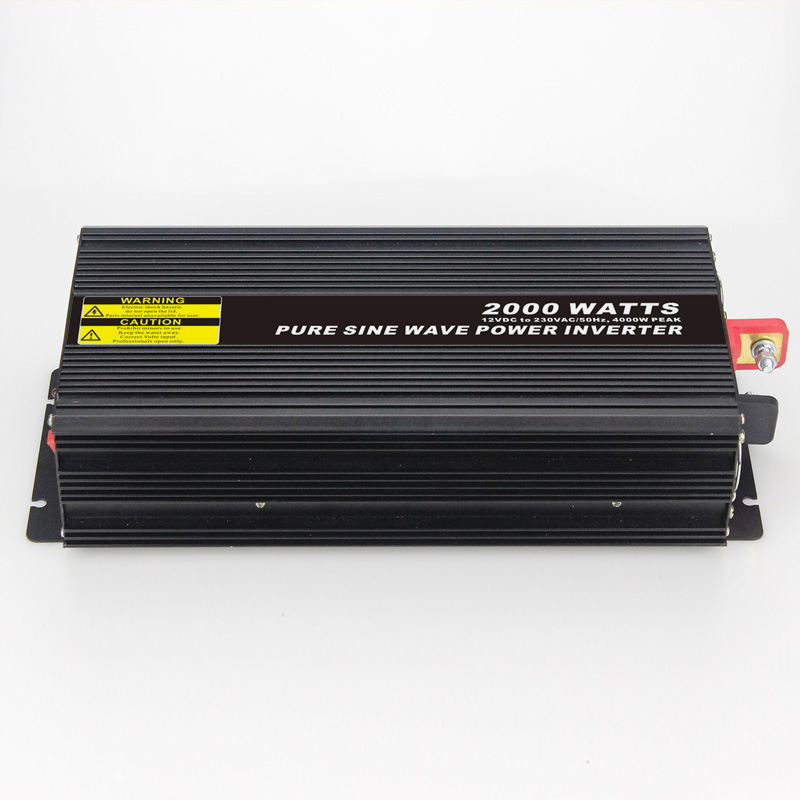 High efficiency 2000W Car Power Inverter Converter DC 12V to AC 110V or 220V Pure Sine Wave Peak 4000W Power Solar inverters 500w solar inverters 85 125v grid tie inverter to ac120v or 230v high efficiency for 72v battery adjustable power output