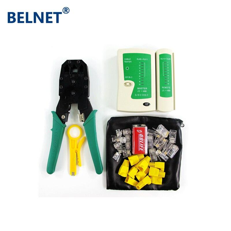 Network Tool Kit RJ45 щипцы кабельный тестер Провода зачистки RJ45 разъем загрузки 9 В батареи