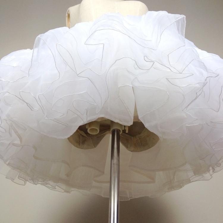 Ženska kratka suknja za haljinu Lolita Bijela / crna slojevita - Ženska odjeća - Foto 6