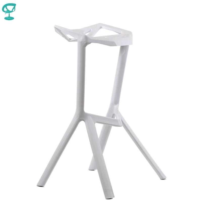 95194 Barneo N-228 Plastic High Kitchen Breakfast Bar Stool Swivel Bar Chair White Free Shipping In Russia