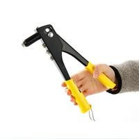 A mano pistola rivettatrice manuale nucleo di trazione rivettatrice rivetti nail strumento con 4 diversi muore da 2.4 a 5mm per cuoio firber metallo plastica
