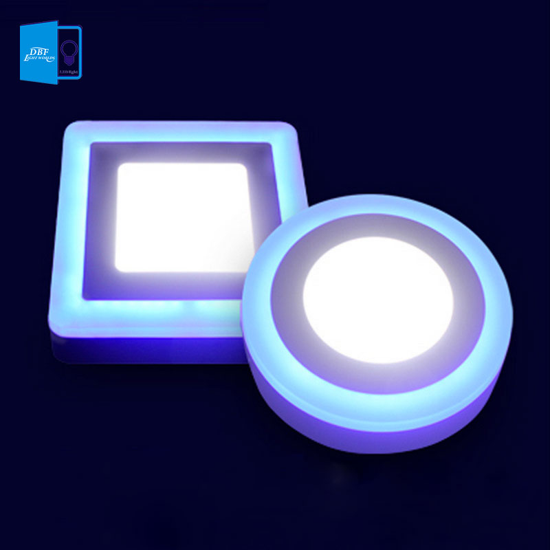 Dbf 3 Model Round Square Blue White Double Color Led Panel Light