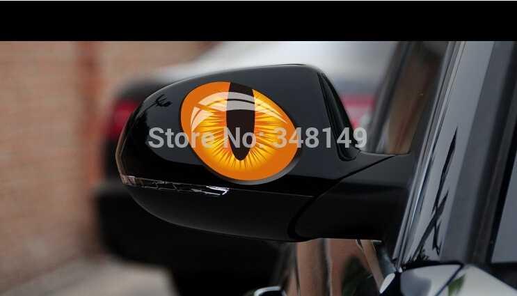 車の装飾現実猫目車のバックミラー窓ステッカーとデカール用フォードfocuse vwシュコダクルーズ