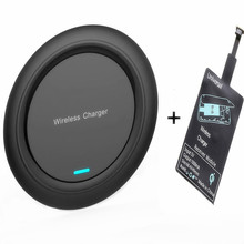 Universal Qi Wireless Chargers Receiver Kit for iPhone X/8 Wireless Charging Pad for Samsung Galaxy S9/S9+ S8 Note 8
