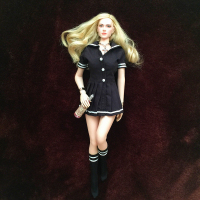 1/6 Scale Black Students School Uniforms and Stockings Socks for 12 Inches Female Bodies Figures Dolls
